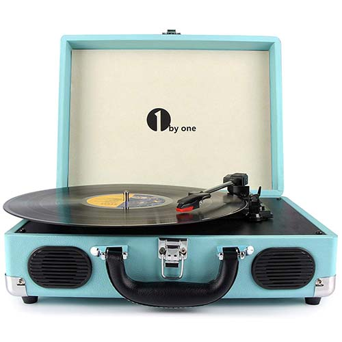 1byone Portable Stereo Turntable